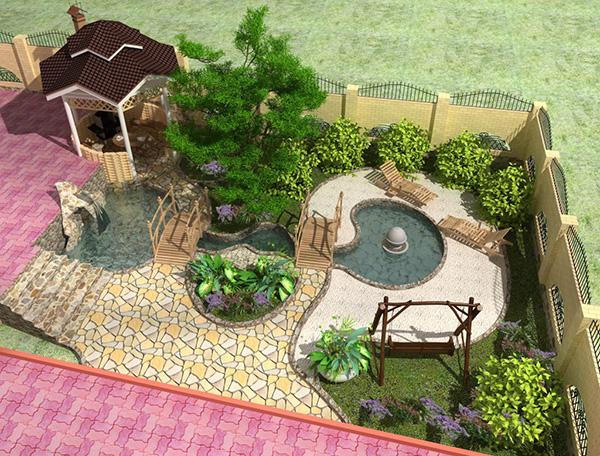 Ландшафтное проектирование сада - Дорожка под арками