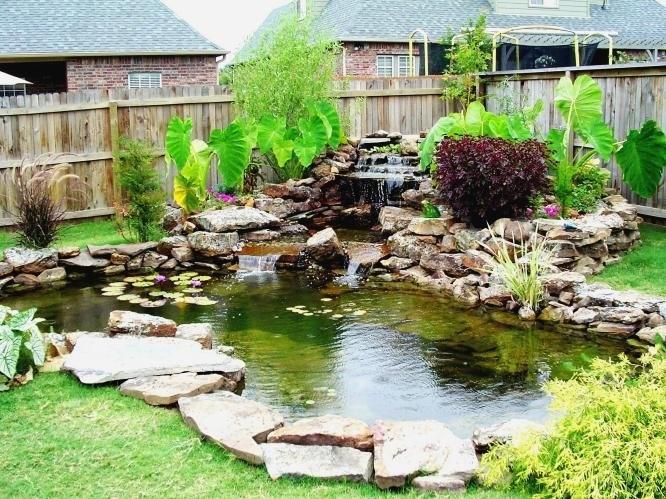 Ландшафтный дизайн - водоемы - Каменная стена