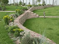 Ландшафтный дизайн на уклоне - Лестница
