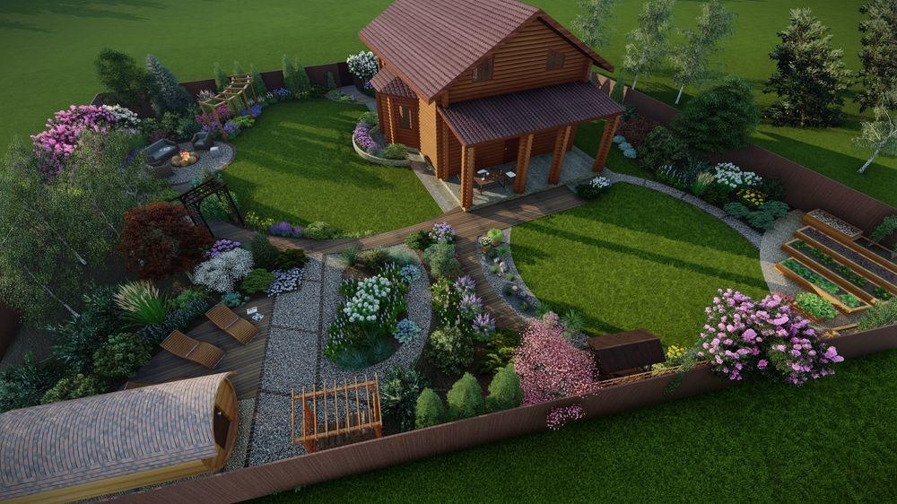 Ландшафтный дизайн на 6 сотках - Альпийская горка
