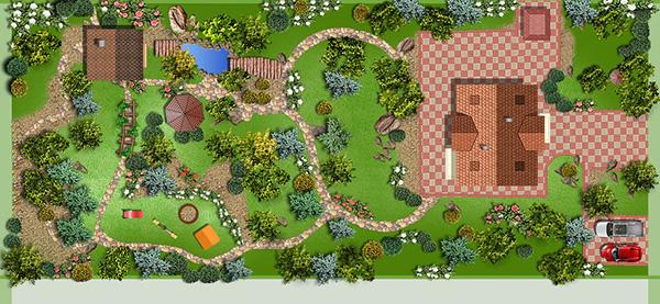 Ландшафтный дизайн проект дачного участка фото