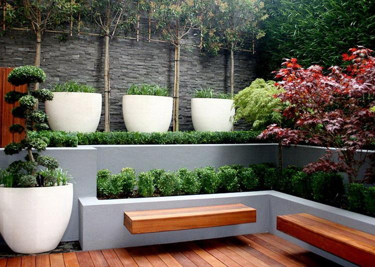 Стиль модерн в ландшафтном дизайне - Деревья, кусты, газон