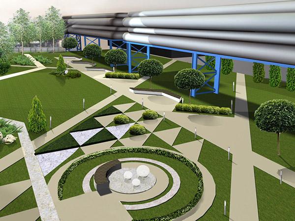 Фирмы, занимающиеся ландшафтным дизайном - Дизайн большой площади