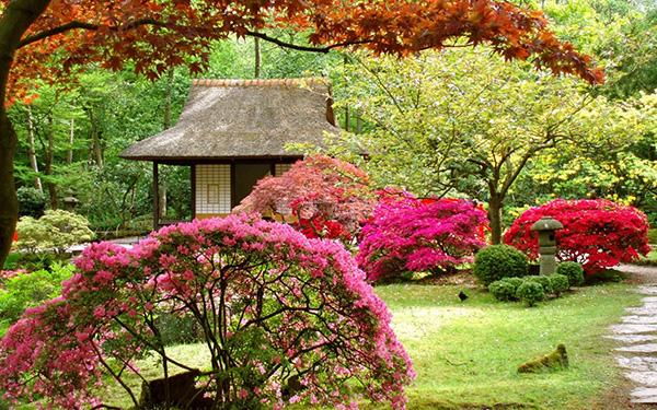 Японский стиль в ландшафтном дизайне - Декорированный выход