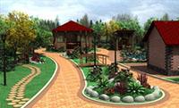 Ландшафтный дизайн коттеджа - Забор