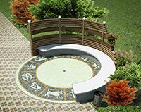 Малые архитектурные формы - Скамейка в саду